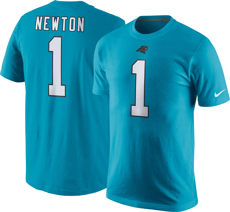 Nike Men's Carolina Panthers Cam Newton #1 Pride Blue T-Shirt