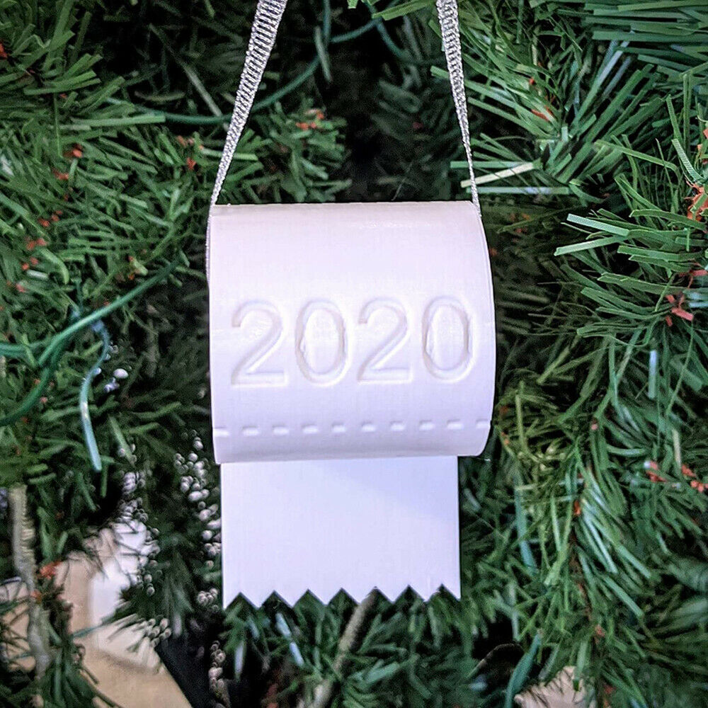 2020 Christmas Ornament Toilet Paper Crisis White Indoor Outdoor Tree Hanging