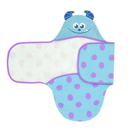 - Disney Monsters Inc Sulley Embroidered Hooded Bath Swaddle