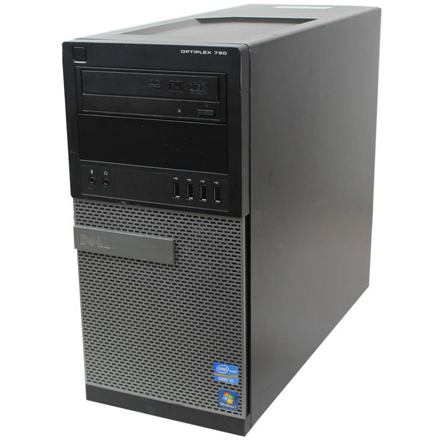 Refurbished Dell 790 MT Desktop PC with Intel Core i5-2400 Processor, 4GB Memory, 2TB Hard Drive and Windows 10 Home (Monitor Not Included)