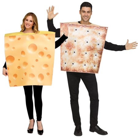 Cheese & Cracker Costume Set for Couples (Funny Couples Costume Ideas)