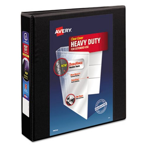 """Avery 1 1/2"""" Heavy-Duty EZD Reference View Binder, Black"""