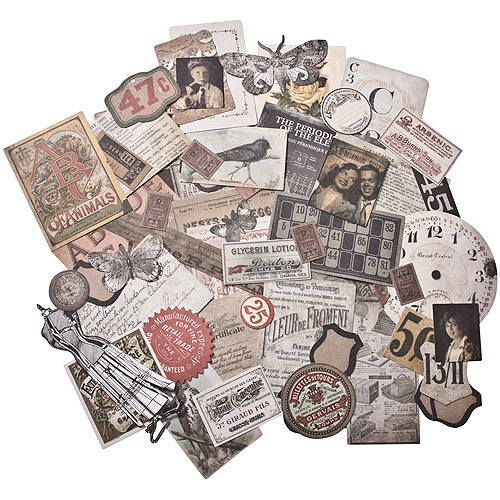 Idea-Ology Ephemera Pack, 54pk, Thrift Shop