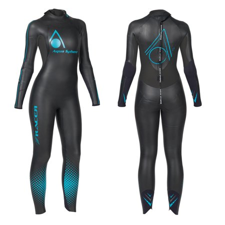 Aqua Sphere Womens Powered W Racer Wet Suit  Black Aqua  X Small