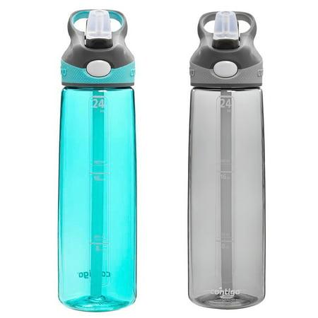 Contigo AUTOSPOUT Addison 24oz Water Bottle Ocean Blue & Smoke Gray w/ Straw
