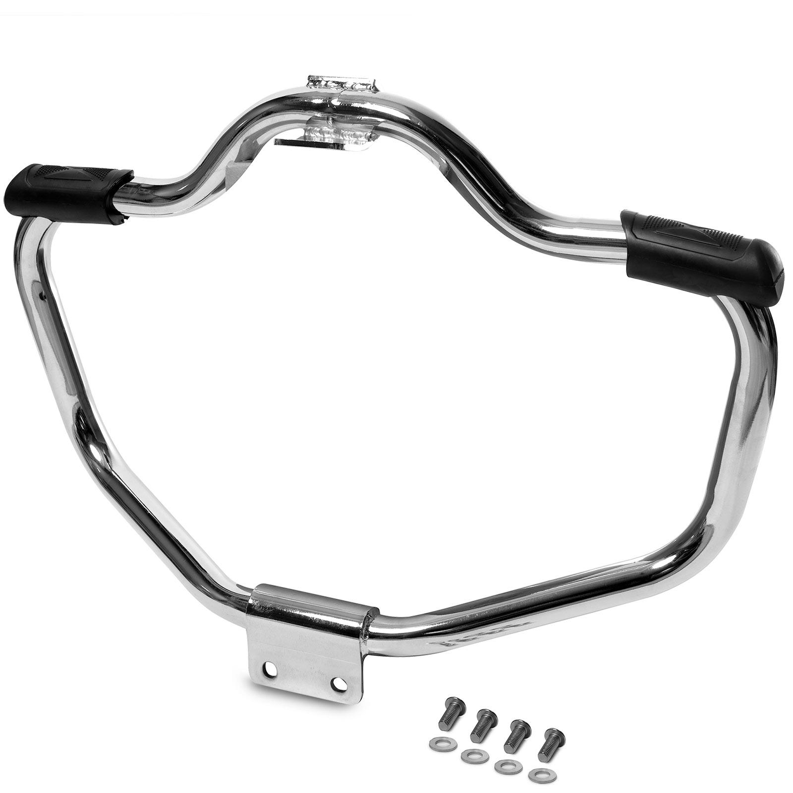 Krator Engine Guard Highway Mustache Crash Bar Compatible with Harley Davidson Sportster 1200 883 XL 2004-2020 and XR 1200 2008-2013 Black