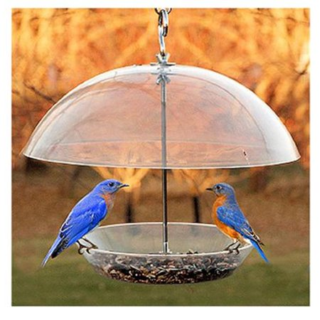 NABBFDR Dome Top Seed & Bluebird Bird Feeder Bird Feeder Weather Dome