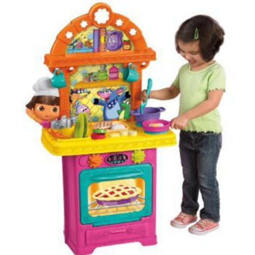 fisher price dora the explorer cooking adventure kitchen play set rh walmart com dora the explorer kitchen accessories dora the explorer kitchen set target