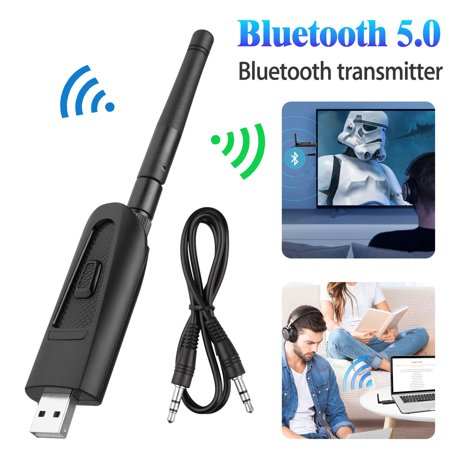 EEEkit USB Bluetooth 5.0 Audio Transmitter Adapter for PC Laptop Mac, Wireless Audio Dongle for Headphones Speakers, Plug and Play, apt-X LL, apt-X Low