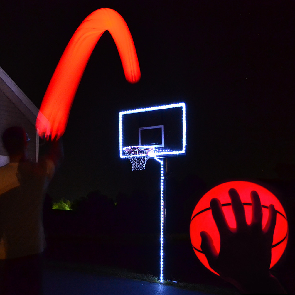 GlowCity Portable Glow In The Dark LED Basketball & Hoop ...