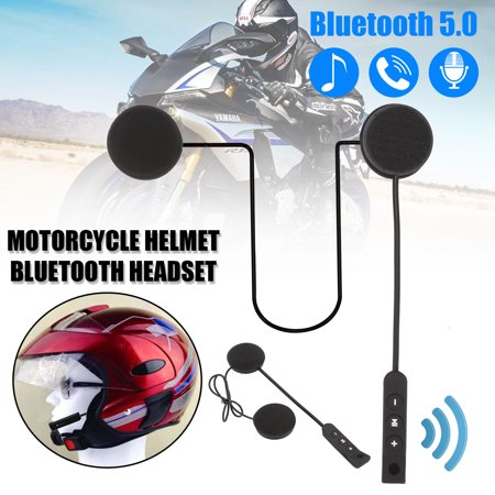 TSV Motorcycle Helmet Wireless Headset Speaker with Bluetooth 5.0, Built-in Microphone & Battery, Support Up/Down Music, Volume Change, Playback Pause, Automatic Callback - Easy and Comfortable to Use