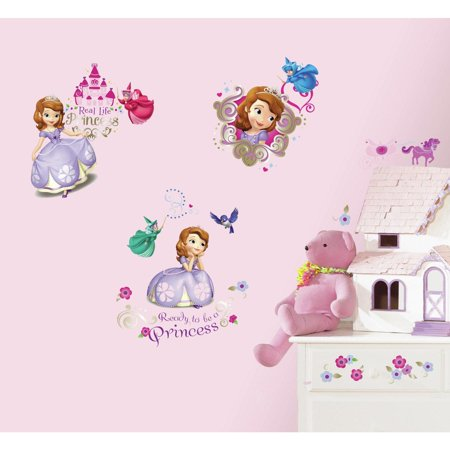 DISNEY SOFIA the FIRST 37 Wall Decals Princess Fairy Sophia Stickers - Princess Wall Decals