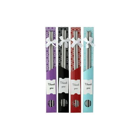 Silver Leaf Chopsticks - PAA Ess Hair Pick Chopsticks Silver 2pc