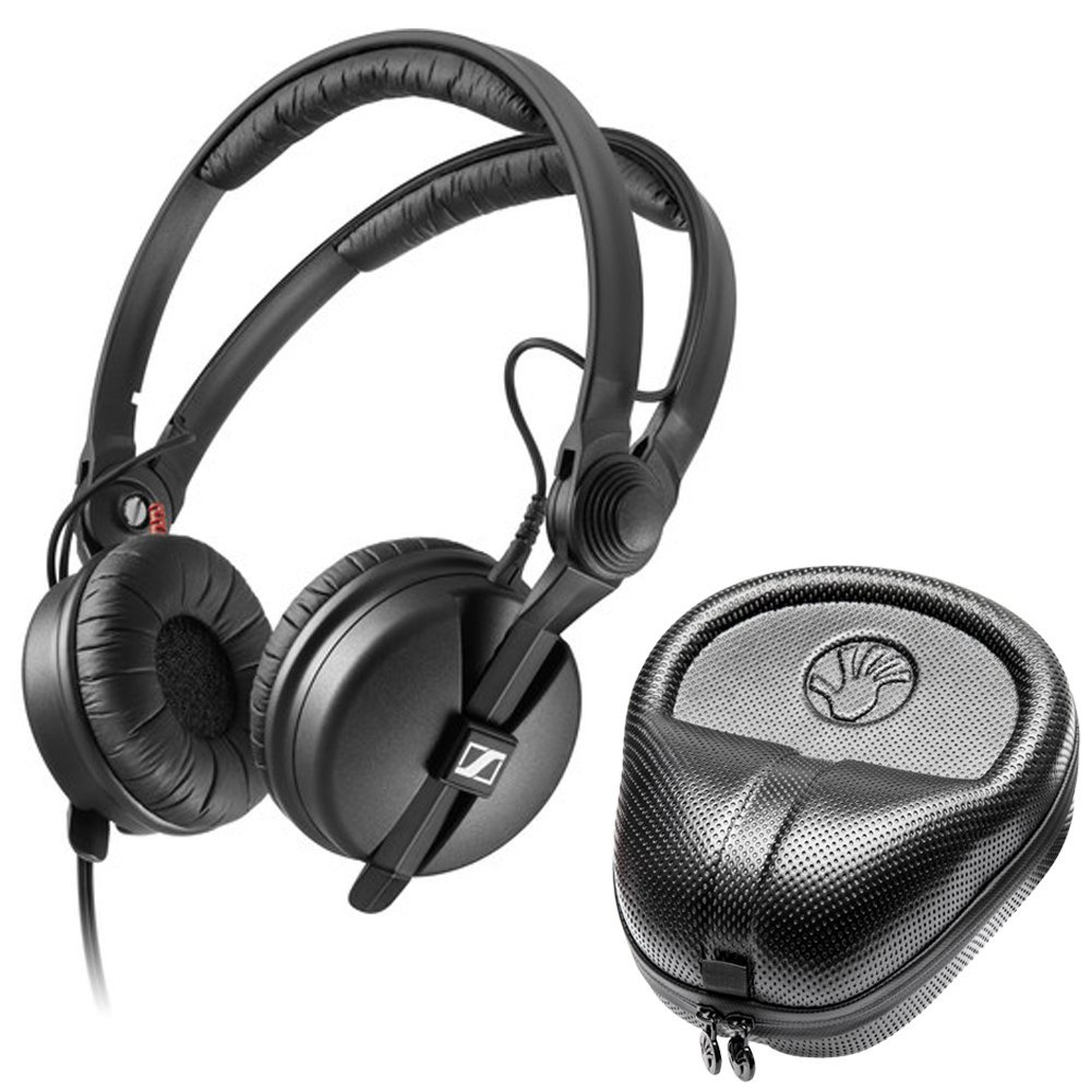 Sennheiser HD 25 PLUS On-ear closed back Monitor DJ Headphones + Slappa HardBody PRO... by Sennheiser