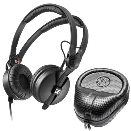 Sennheiser HD 25 PLUS On-ear closed back Monitor DJ Headphones + Slappa HardBody PRO Headphone (Sennheiser Hd 598 Best Price)