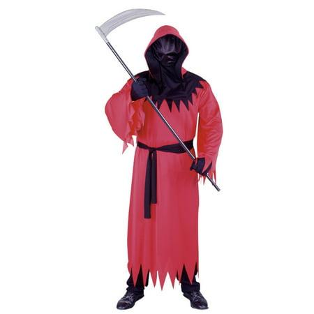 Fun World Mens Red Unknown Phantom Costume with One-Way Mesh Mask - Phantom Of Darkness Costume