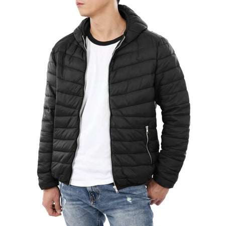 Ma Croix Mens Ultra Light Puffer Down Hooded Jacket Polyester Padded Packable Winter Jacket