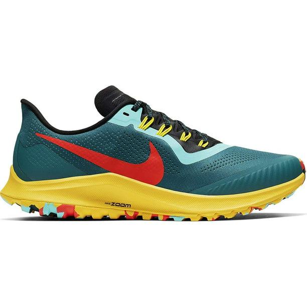 Nike Air Zoom Pegasus 36 Trail Men's Running Shoe GEODE Teal/Bright Crimson-Black Size 10.5