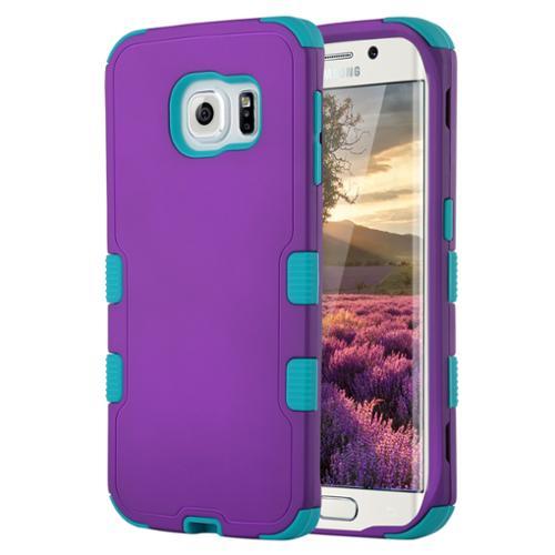 ULAK Galaxy S6 Edge Case, Hybrid 3in1 Protective Case for Samsung Galaxy S6 Edge - Purple/Blue