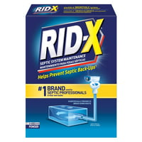 RID-X Septic Treatment Drain Opener, 2 Month Supply of Powder, 19.6 oz