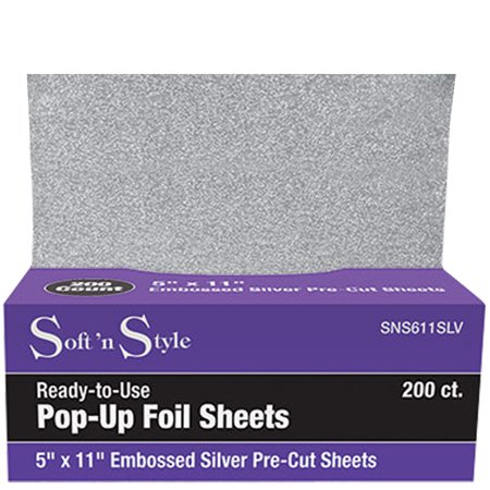 SOFT 'N STYLE  200 Embossed Pop-Up Hair Coloring Foil Sheets 5