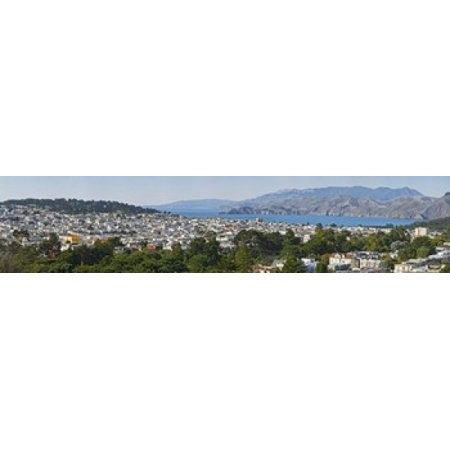 High angle view of a city Richmond District Lincoln Park San Francisco California USA Canvas Art - Panoramic Images (22 x 5)