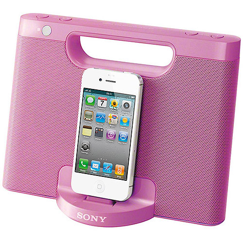 SONY RDPM7iPPINK iPhone(R)/iPod(R) Portable Compact Dock