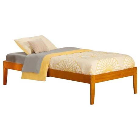 Atlantic furniture concord bed with open foot rail in for Foot of bed furniture