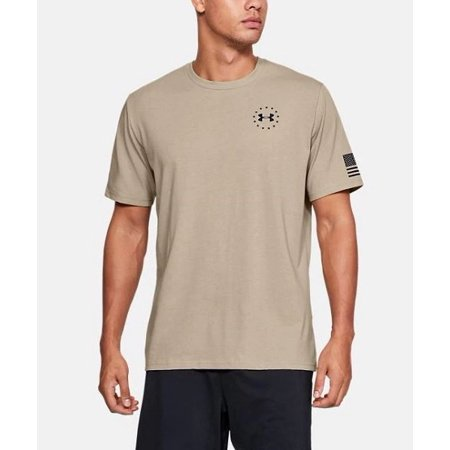 Under Armour 1333350290MD Freedom Flag Mens MD Desert Sand Tan S/S -