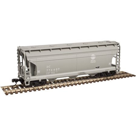 Atlas N Scale ACF 3560 Center-Flow Covered Hopper Illinois Central/IC (Illinois Central Hopper)
