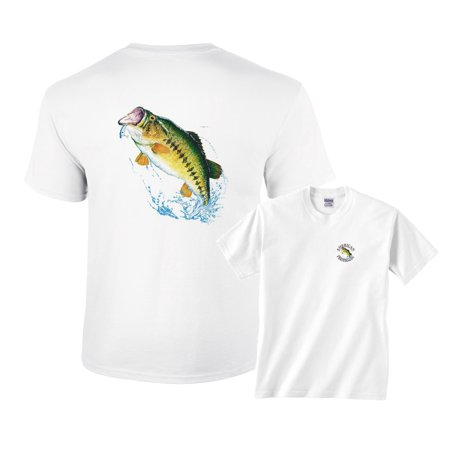 Largemouth Bass Jumping Out of Water for Lure Fishing T-Shirt