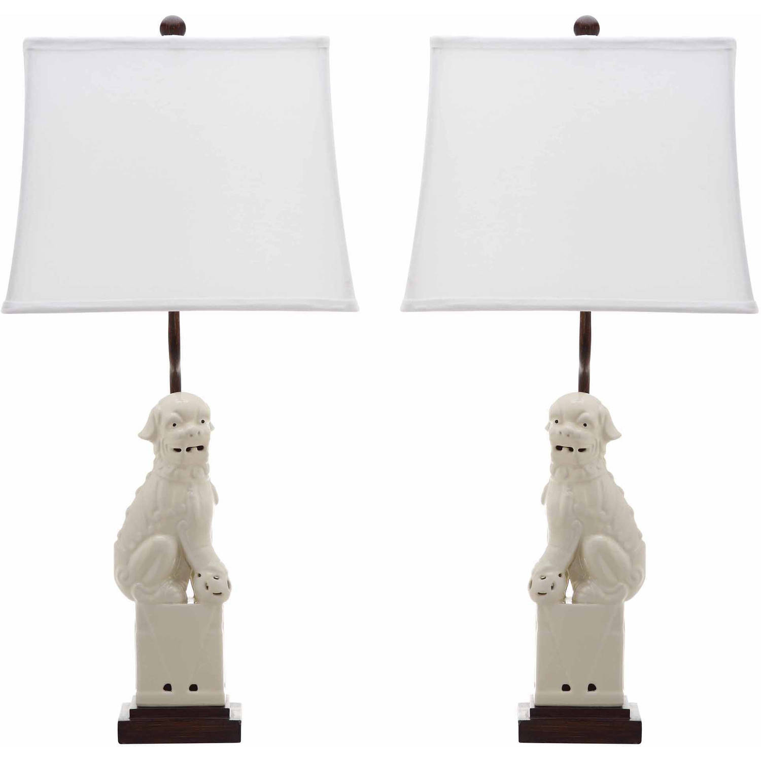 Safavieh Foo Dog Table Lamp With CFL Bulb, Multiple Colors, Set Of 2