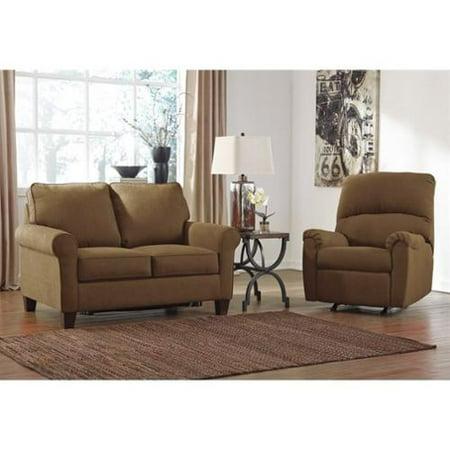 Ashley Zeth 2 Piece Twin Sleeper Sofa Set And Recliner In