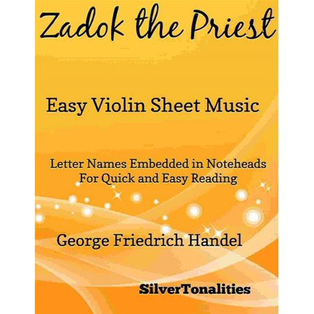 Zadok the Priest Easy Violin Sheet Music - eBook