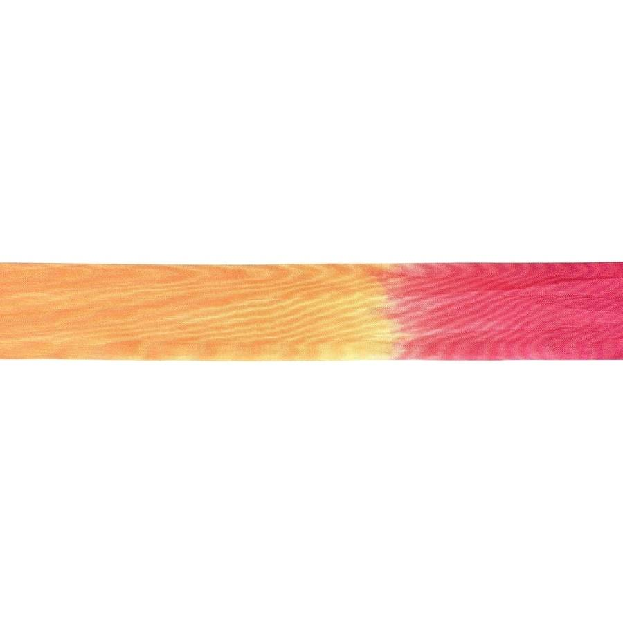 "Variegated 100 Percent Silk Ribbon, 1-1/4"" x 32yd, Yellow/Fuchsia/Orange"