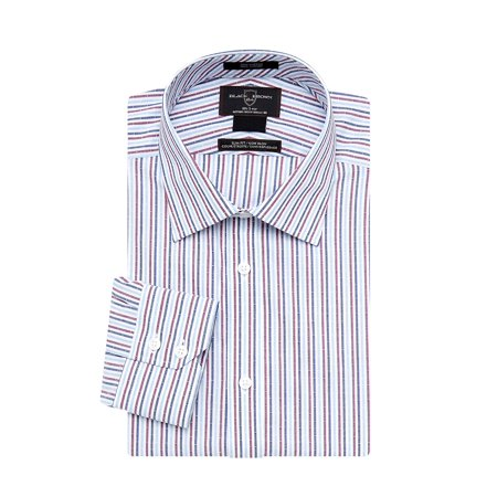 Slim-Fit Horizontal Stripe Dress Shirt (Forzieri Variegated Stripe Dress Shirt)