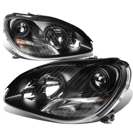 For 2000 to 2006 Mercedes -Benz S -Class W220 Angel Eyes Projector Headlight Black Housing Headlamp 01 02 03 04 05 S350 S430 S500 S55