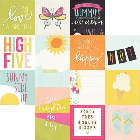Sunshine   Happiness Double Sided Elements Cardstock 12 X12  4 X4    4 X6  Vertical Journaling Cards   Case Pack Of 25