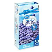 Great Value Slider Zipper Gallon Freezer Bags Mega Pack, 50 count