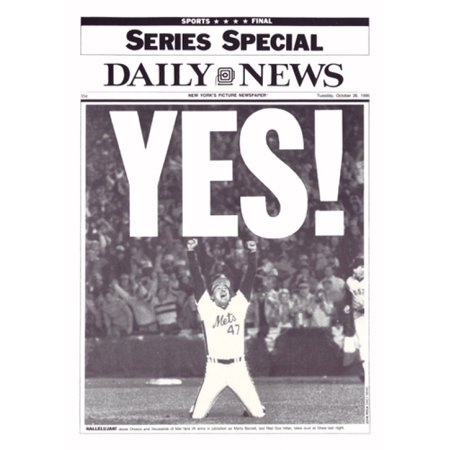 Yes  86 Mets  Poster Print By Ny Daily News  11 X 15