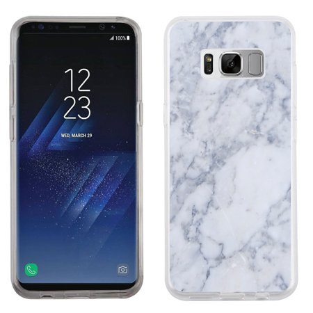 Fit Galaxy S8, OneToughShield ® Slim-Fit Premium TPU Gel Phone Case for Samsung Galaxy S8 - Marble / Clouds