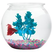 "Hawkeye 3 Gallon Fish Bowl Bubble Shaped, Shatterproof Plastic 11.25""Diameter x 10.5""H"