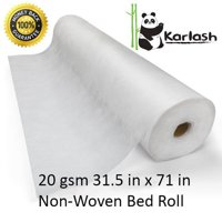 Karlash Disposable Non Woven Bed Sheet Roll Massage table paper roll 20gms Thick (PACK OF 1)