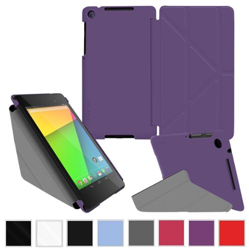 roocase Google Nexus 7 2013 Case - Slim Shell Origami [Portrait / Landscape / Typing View] Stand Cover for Nexus 7 FHD 2nd Gen (Supports Auto Sleep/Wake), Purple