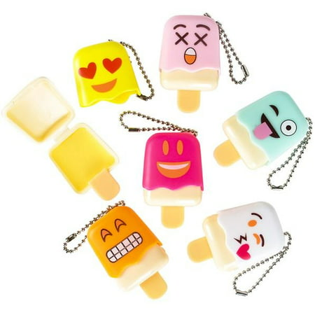 Cp You Get 1 Random Emoji Face Emoticon Ice Pop Lip Gloss Keychain Birthday Party Favors Ages 3 - Birthday Emojis