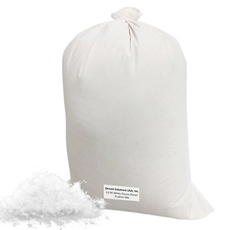 Bulk Goose Down Filling (1/4 lb.) - 10/90 100% Natural White Down and Feather - Fill Stuffing Comforters, Pillows, Jackets and More - Ultra-Plush Hungarian Softness - Dream Solutions USA Brand ()