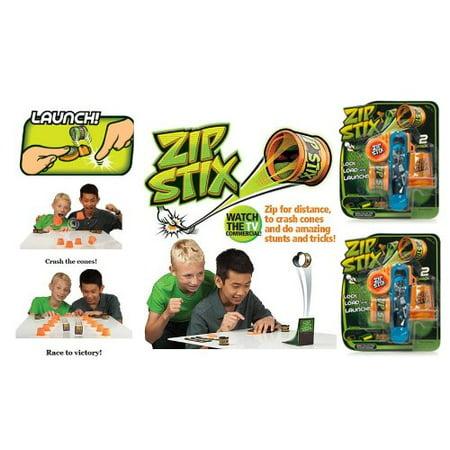 Zip Stix Dual Pack (Each pack has 2 ZipStix, 1 Launcher and 3 Crash (Crash Pack)