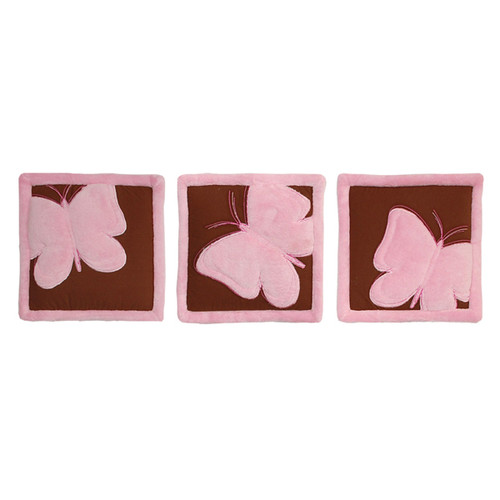 Tadpoles Butterfly Baby Set of 3 Wall Hangings