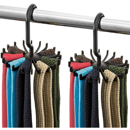 Spinning Tie Rack And Belt Hanger 2 Pack Ultimate Hanger Holder