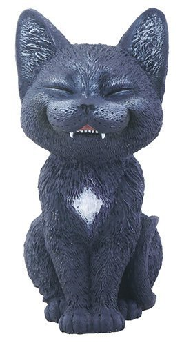 Black Laughing Kitty Cat Teehee Themed Decorative Figurine Statue by YTC SUMMIT